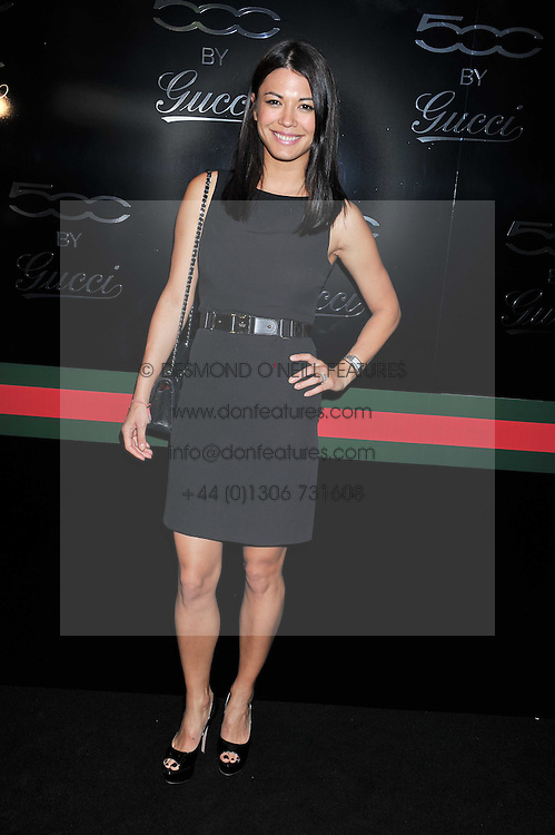 LOHRALEE ASTOR at a party to launch the Gucci designed Fiat 500 customized by Gucci Creative Director Frida Giannini in collaboration with FIAT's Centro Stile, held at Fiat, 105 Wigmore Street, London on 27th June 2011.