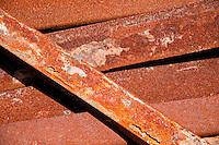 Long Island, New York, Shinnecock Harbor. Rusted metalwork.