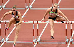06-03-2015 CZE: European Athletics Indoor Championships, Prague<br /> Marina Tomic SLO, Eline Berings BEL