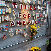 Special candlelight remembrance 7pm on 9/11/2015, Mulry Square @ Greenwich Avenue &amp; 7th Avenue South fo Tiles For America.<br /> <br /> Tiles with messages of inspiration and remembrance.