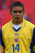 27.08.2003, Ratina Stadium, Tampere, Finland..FIFA U-17 World Championship - Finland 2003.Match 29: Semi Final - Colombia v Brazil.Alberto Bolivar Asprilla - Colombia.©Juha Tamminen