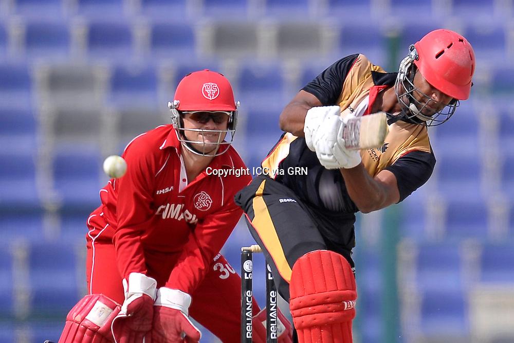 Canada's Ruvindu Gunasekera at the ICC World Twenty20 Qualifier UAE 2012.. Pix ICC/Thusith Wijedoru