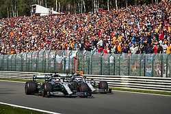 September 1, 2019, Spa-Francorchamps, Belgium: Motorsports: FIA Formula One World Championship 2019, Grand Prix of Belgium, ..#44 Lewis Hamilton (GBR, Mercedes AMG Petronas Motorsport), #77 Valtteri Bottas (FIN, Mercedes AMG Petronas Motorsport) (Credit Image: © Hoch Zwei via ZUMA Wire)