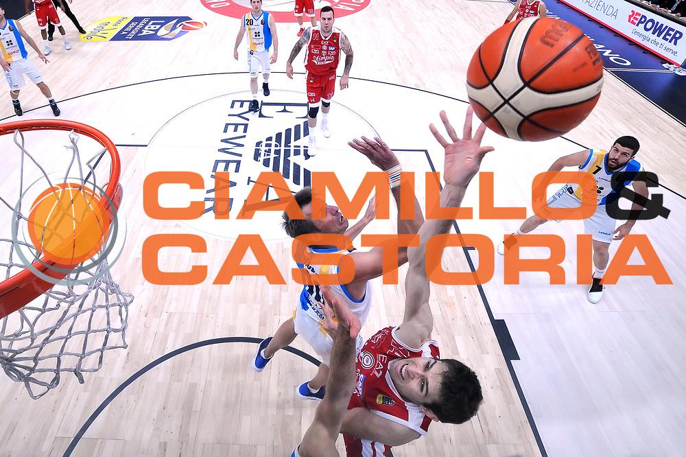 Davide Pascolo<br /> Olimpia EA7 Emporio Armani Milano - Vanoli Cremona<br /> Lega Basket Serie A 2016/2017<br /> PlayOff semifinale gara 2<br /> Milano 14/05/2017<br /> Foto Ciamillo-Castoria / I.Mancini