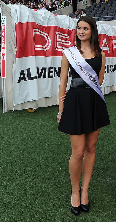 Udine, 21 settembre 2014.<br /> Serie A 2014/2015 3^ giornata. <br /> Stadio Friuli.<br /> Udinese vs Napoli.<br /> Nella foto: Anna Giulia Sant (Miss Italia Curvy  Cotonella FVG).<br /> Copyright foto Petrussi / Ferraro Simone