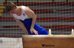 "Ziga Lipovsek at event ""Slovenian Gymnastics stars"" after the European Championships in Milano, on April 6, 2009, in Hall Slovan, Kodeljevo, Ljubljana, Slovenia. (Photo by Vid Ponikvar / Sportida)"