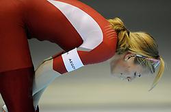 31-10-2009 SCHAATSEN: NK AFSTANDEN: HEERENVEEN<br /> Annette Gerritsen op de 1000 meter <br /> ©2009-WWW.FOTOHOOGENDOORN.NL