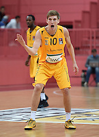 Basketball 1. Bundesliga 2014/2015 Testspiel Walter Tigers Tuebingen - ratiopharm Ulm      26.09.2014 Till-Joscha Joenke (Tigers) emotional