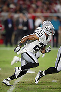 Oakland Raiders strong safety Nate Allen (20) chases the action during the 2016 NFL preseason football game against the Arizona Cardinals on Friday, Aug. 12, 2016 in Glendale, Ariz. The Raiders won the game 31-10. (©Paul Anthony Spinelli)