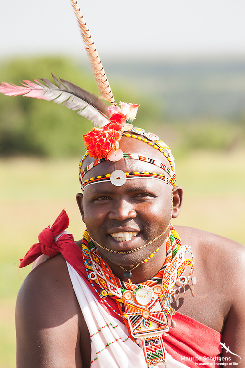Brown, one of Loisaba Conservancy's finest guides in traditional dress.