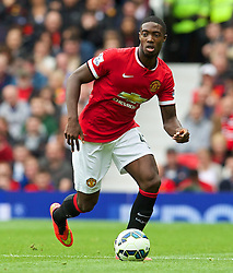 16.08.2014, Old Trafford, Manchester, ENG, Premier League, Manchester United vs Swansea City, 1. Runde, im Bild Manchester United's Tyler Blackett in action against Swansea City // 15054000 during the English Premier League 1st round match between Manchester United and Swansea City AFC at Old Trafford in Manchester, Great Britain on 2014/08/16. EXPA Pictures &copy; 2014, PhotoCredit: EXPA/ Propagandaphoto/ David Rawcliffe<br /> <br /> *****ATTENTION - OUT of ENG, GBR*****
