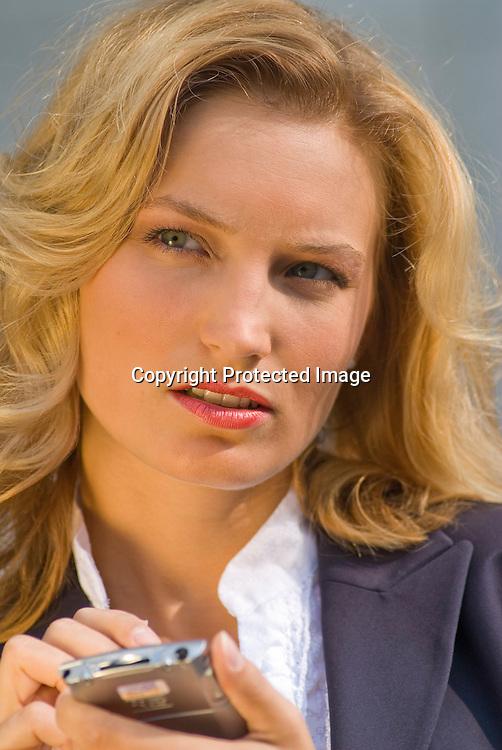 businesswoman with organizer