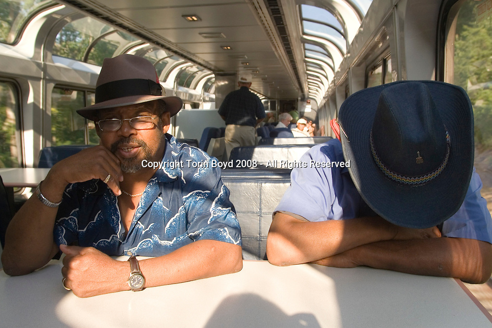 West Virginia: start of train journey from Washington DC (suburbs) to Washington State with Piedmont Style blues artisrts Warner Williams and Jay Summerour.