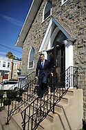10/17/10 12:31:46 PM -- Darby, PA<br />  -- Democratic Congressional candidate Bryan Lentz campaigns October 17, 2010 at a First Baptist Church in Darby, Pennsylvania. Bryan Lentz  faces Republican Pat Meehan  in the Nov. 2 general election.   --  Photo by William Thomas Cain/Cain Images