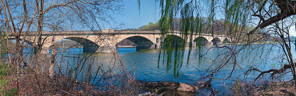 Schuylkill River, Fairmount Park, Bridge, Philadelphia, Pennsylvania, Panorama