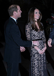 The Duchess of Cambridge arrives alongside Prince William as they attend a 3D screening of Alive at the Natural HIstory Museum. Natural History Museum, London, United Kingdom. Wednesday, 11th December 2013. Picture by i-Images