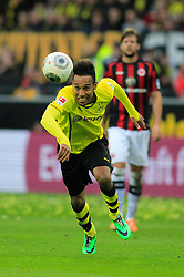 15.02.2014, Signal Iduna Park, Dortmund, GER, 1. FBL, Borussia Dortmund vs Eintracht Frankfurt, 21. Runde, im Bild Doppeltorschuetze Pierre-Emerick Aubameyang (Borussia Dortmund #17), Aktion, Action // during the German Bundesliga 21th round match between Borussia Dortmund and Eintracht Frankfurt at the Signal Iduna Park in Dortmund, Germany on 2014/02/15. EXPA Pictures © 2014, PhotoCredit: EXPA/ Eibner-Pressefoto/ Schueler<br /> <br /> *****ATTENTION - OUT of GER*****