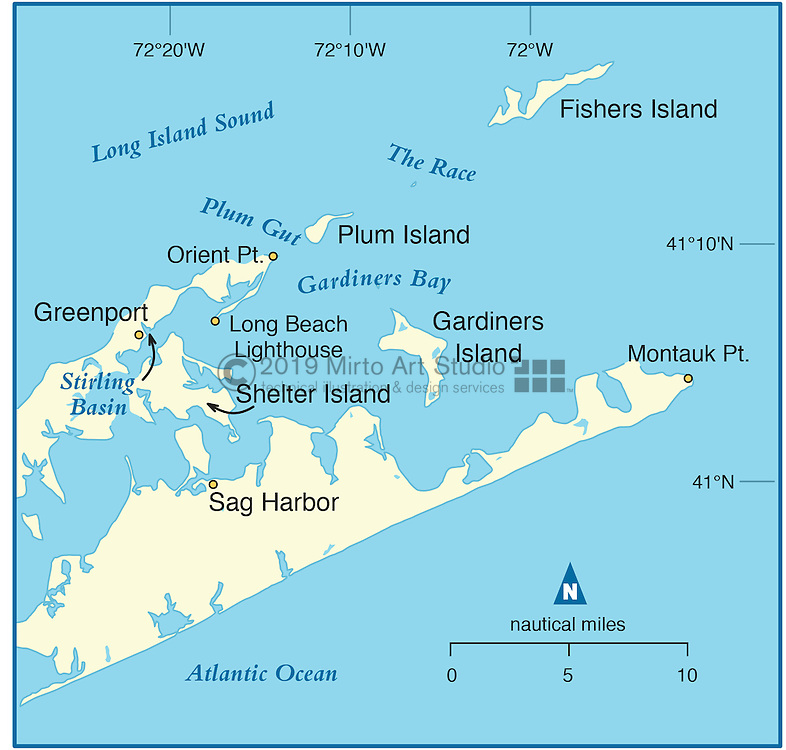 Vector map of Greenport, New York