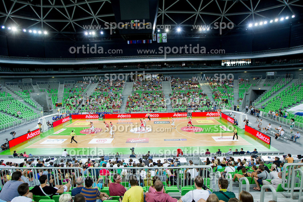 Arena Stozice during basketball match between National teams of Slovenia and Serbia in day 3 of Adecco cup, on August 5, 2012 in Arena Stozice, Ljubljana, Slovenia. (Photo by Vid Ponikvar / Sportida.com)