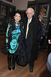 JUNG CHANG and JON HALLIDAY at a private view to celebrate the opening of the Royal Academy's exhibition of work by David Hockney held at The Royal Academy, Burlington House, Piccadilly, London on 17th January 2012.