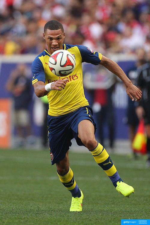 Kieran Gibbs, Arsenal, in action during the New York Red Bulls Vs Arsenal FC,  friendly football match for the New York Cup at Red Bull Arena, Harrison, New Jersey. USA. 26h July 2014. Photo Tim Clayton