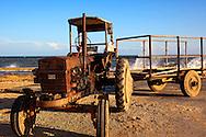 Tractor in Punta de Cartas, Pinar del Rio, Cuba.