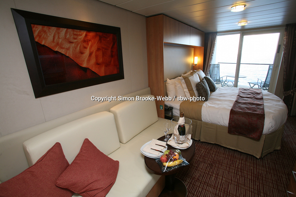 Celebrity Solstice Launch, Miami, Florida..Celebrity Concierge class, stateroom.