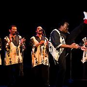 Ladysmith Black Mambazo member Abednego Mazibuko performing at The Music Hall, Portsmouth, NH
