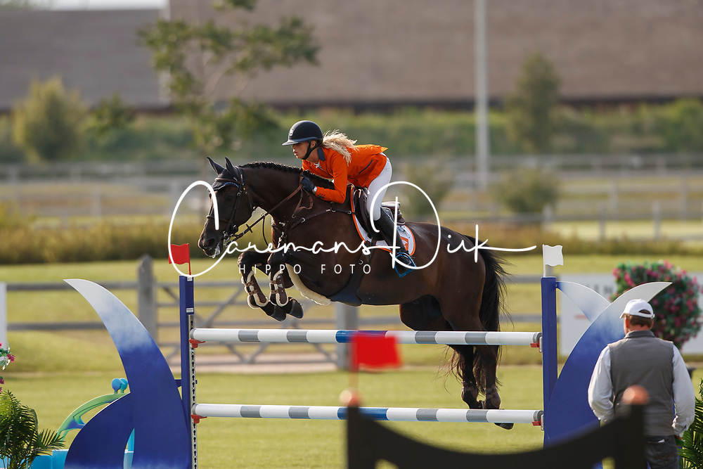 Hoogenraat Kim, NED, Caesar<br /> Juniors European Championships Jumping <br /> Samorin 2017&copy; Hippo Foto - Dirk Caremans<br /> 11/08/2017