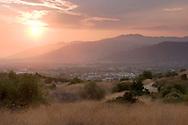 San Gabriel Mountains Sunset, Glendora, California