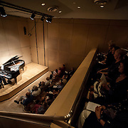 June 11, 2012 - New York, NY :  Austrian pianist and composer Philipp Schneider-Siemssen performs for a packed house at the Austrian Cultural Forum in midtown Manhattan on Monday night. CREDIT: Karsten Moran for The New York Times