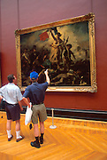 FRANCE, PARIS, CITY CENTER The Louvre Museum, principal hall for paintings