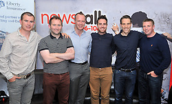 Pictured at the Newstalk Off the Ball Roadshow in association with Liberty Insurance live from the Knockranny House Hotel Westport, on thursday last with guests Killian Burns, presenter Ger Kilroy, David Brady, Joe Lyons Billy Joe Padden and T&oacute;mas &Oacute; Shea. <br /> Pic Conor McKeown