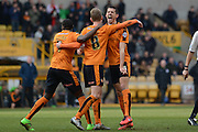 Wolverhampton Wanderers midfielder George Saville celebrates goal during the Sky Bet Championship match between Wolverhampton Wanderers and Derby County at Molineux, Wolverhampton, England on 27 February 2016. Photo by Alan Franklin.