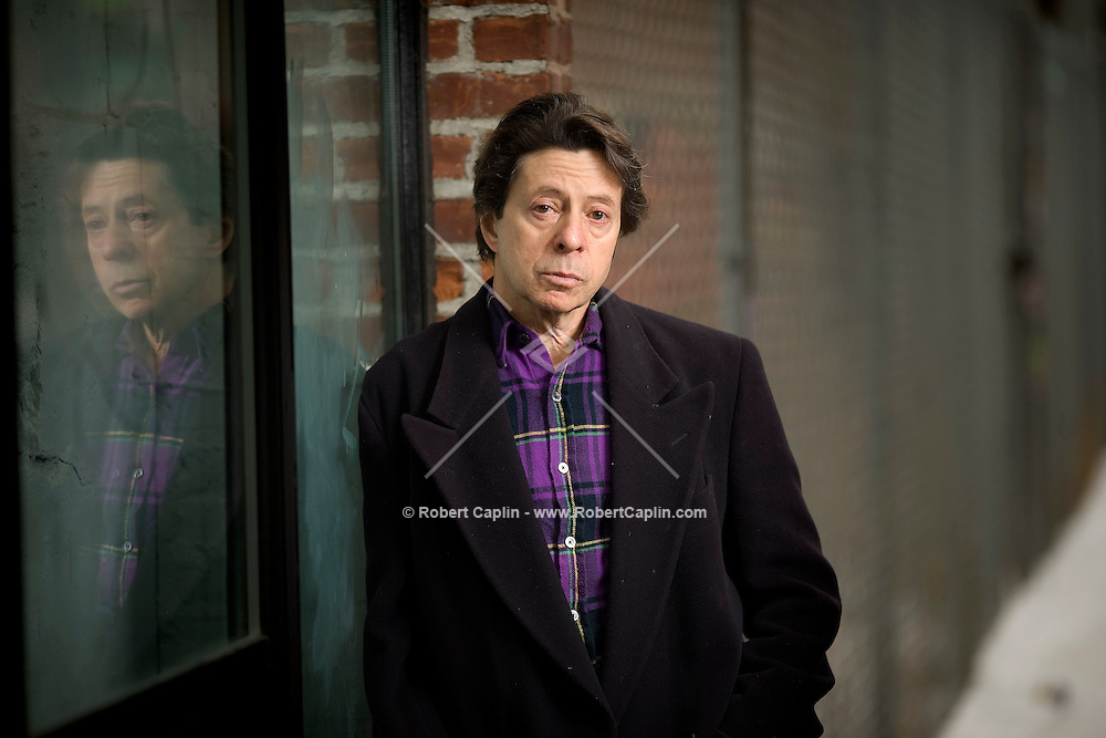 Author Richard Price photographed in New York's Lower East Side.