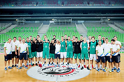 Team photo during public training session of Slovenian National Basketball team, on August 1, 2016 in Arena Stozice, Ljubljana, Slovenia. Photo by Vid Ponikvar / Sportida