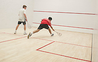 St Paul's School varsity boys Squash with Nobles.  ©2017 Karen Bobotas Photographer