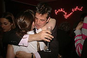 Charlotte Randle and Guy Ladenburg, First night party after the opening of Rabbit by Nina Raine at the Old Red Lion Theatre, Islington. Groucho Club. 18 June 2006. ONE TIME USE ONLY - DO NOT ARCHIVE  © Copyright Photograph by Dafydd Jones 66 Stockwell Park Rd. London SW9 0DA Tel 020 7733 0108 www.dafjones.com