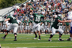 17 September 2011: Rob Gallik during an NCAA Division 3 football game between the Aurora Spartans and the Illinois Wesleyan Titans on Wilder Field inside Tucci Stadium in.Bloomington Illinois.