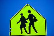 Grande Prairie, Alberta.Traffic signs help keep roads safe for drivers and pedestrians.
