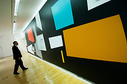Abstract modern art on display at Modern Art Museum in Glasgow Scotland