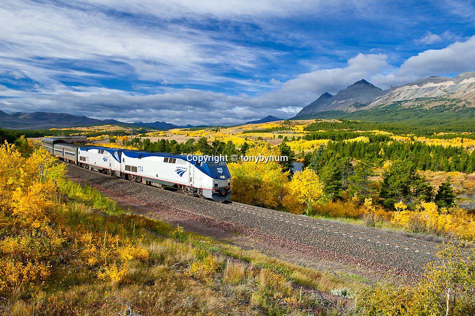 glacier national park, empire builder amtrak train,