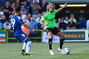 Forest Green Rovers Joseph Mills(23) on the ball during the Pre-Season Friendly match between Forest Green Rovers and Leeds United at the New Lawn, Forest Green, United Kingdom on 17 July 2018. Picture by Shane Healey.