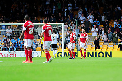 Bristol City concede a late goal in the last minute, preventing Bristol City winning their first game in the league - Photo mandatory by-line: Dougie Allward/JMP - Tel: Mobile: 07966 386802 05/10/2013 - SPORT - FOOTBALL - Vale Park - Stoke-on-Trent - Port Vale V Bristol City - Sky Bet League 1