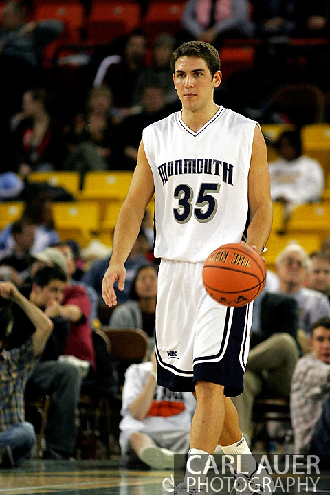 25 November 2005: Senior Guard for Monmouth University, Chris Kenny (35) in the 56-62 loss to South Carolina at the Great Alaska Shootout in Anchorage, Alaska