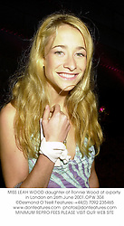 MISS LEAH WOOD daughter of Ronnie Wood at a party in London on 26th June 2001.OPW 304