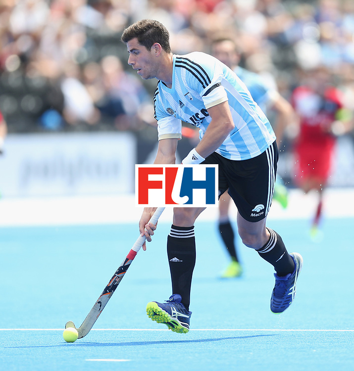 LONDON, ENGLAND - JUNE 15:  Joaquin Menini of Argentina during the Hero Hockey World League Semi Final match between Korea and Argentina at Lee Valley Hockey and Tennis Centre on June 15, 2017 in London, England.  (Photo by Alex Morton/Getty Images)