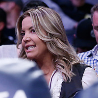 26 March 2016: Controlling owner and president of the Los Angeles Lakers Jeanie Buss is seen during the Portland Trail Blazers 97-81 victory over the Los Angeles Lakers, at the Staples Center, Los Angeles, California, USA.