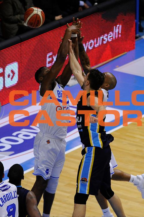 Carter Robert Lawrence , Goss Phil, Mian Fabio<br /> Enel Brindisi - Vanoli Cremona<br /> Lega Basket Serie A 2016/2017<br /> Brescia, 05/03//2017<br /> Foto Ciamillo-Castoria