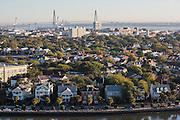 Aerial view of the Battery Charleston, South Carolina.